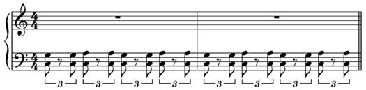 blues piano triplet feel